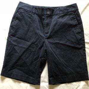 RALPH LAUREN dk blue cotton stretch long shorts